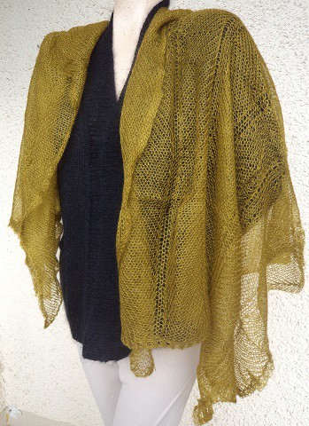 Scarves knitted mohair