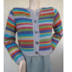 sweaters and jackets knitted in mohair